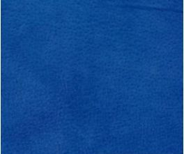 Royal Blue Velour Suede Leather Half Skin